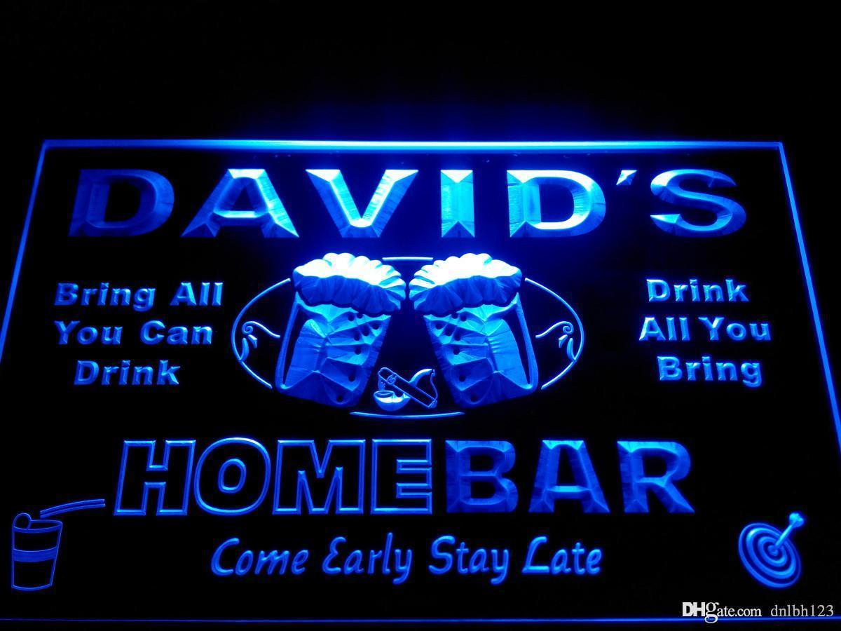 Dz001 B Name Personalized Home Bar Beer Family Name Neon Light Sign Bar Signs Open Signs Open Business Signs Garage Sig Neon Lights Signs Online With