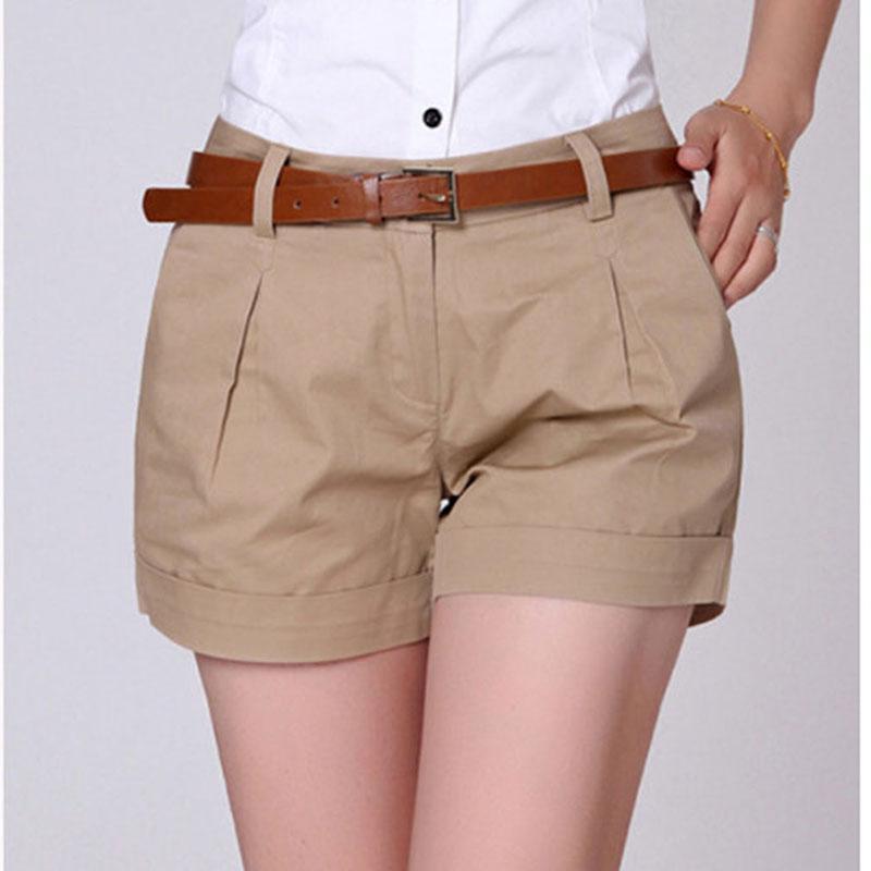 d33c2fe16 Compre Pantalones Cortos Casuales De La Mujer Del Verano Del Estilo De  Corea Más Tamaño S 2XL Nueva Dama Diseño De La Moda Casuales Corto De Color  Sólido ...