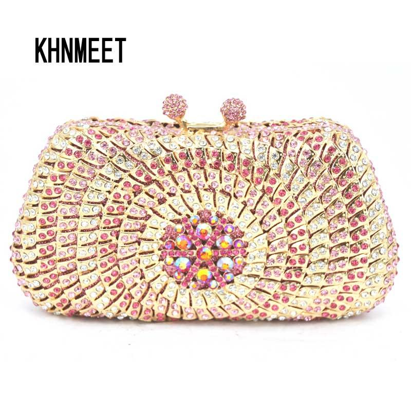 1ff916094323 Pink Evening Dress Bag Women Dinner Clutch Bag Pochette Soiree Lady Clutches  With Crystals Pearl Diamond Party Purse SC248 Designer Crossbody Bags  Discount ...