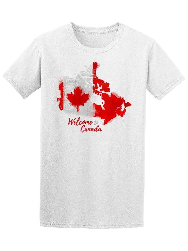 Canada Map Flag.Watercolor Canada Map Flag Men S Tee Newest 2018 T Shirt Men T Shirt