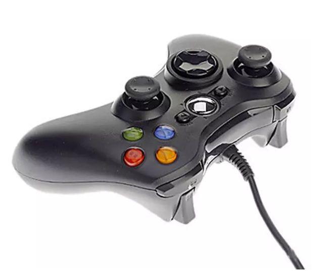 Controlador de jogo Xbox 360 Gamepad Preto USB PC Fio XBOX360 Joypad Joystick XBOX360 Acessório Para Computador Portátil PC