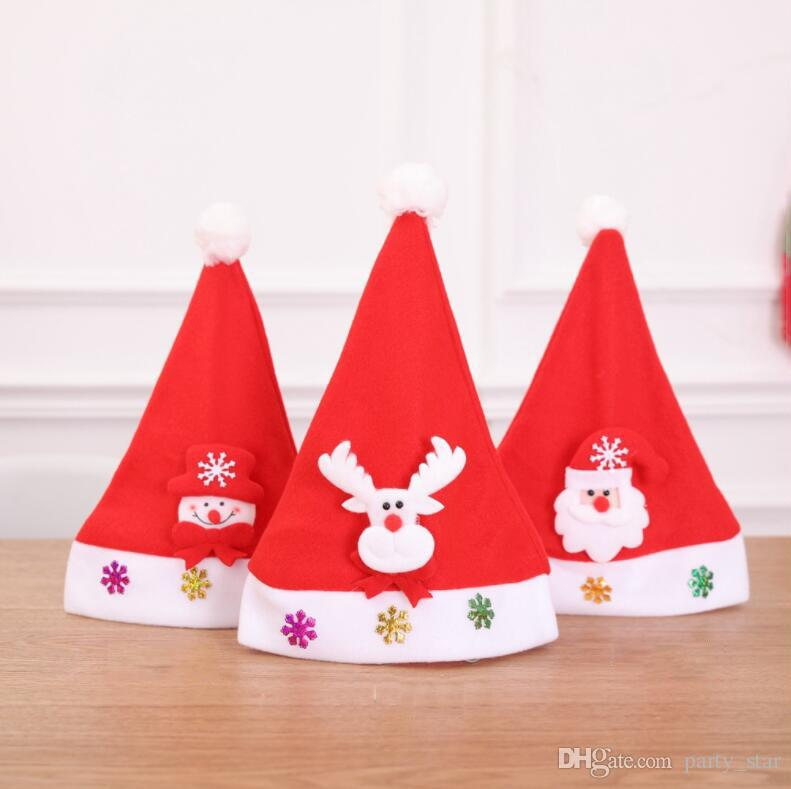 Children Christmas Hat Caps Supplies Kids Birthday Party Cartoon Cap