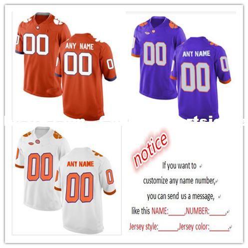 9c2e10077 Cheap Custom Clemson Tigers Men s College Football Jersey Customized ...