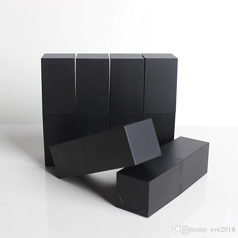 Бесплатная доставка пустой высокого класса пластиковые помады трубки, черный внешний квадратная форма внутренний DIY помады трубки LX2408
