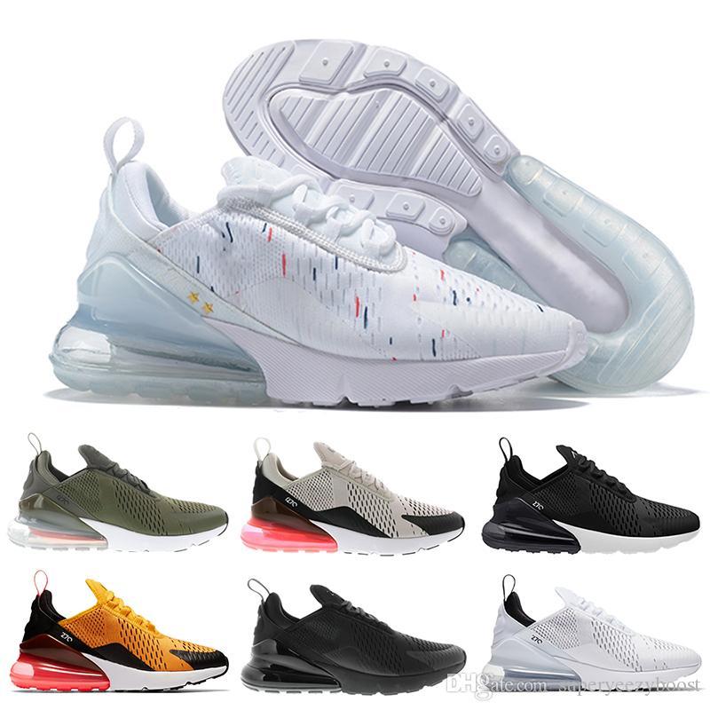 Acquista Nike Air Max 270 Scarpe Da Corsa Di Alta Qualità 270 GS Mens 27C Scarpe  Da Ginnastica Air Campione Francese Da Donna Università Nero Nero 2019 ... d608c739a9f