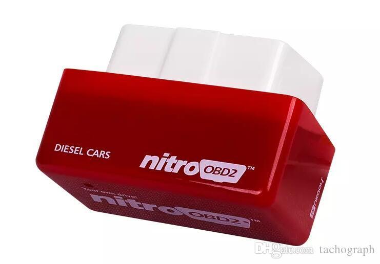 Nitro Desempenho OBD2 Chip Tuning Power Box Plug Drive Para Carro Diesel NitroOBD2 CTE038-01 Gasolina Benzine Carros Chip Tuning Box