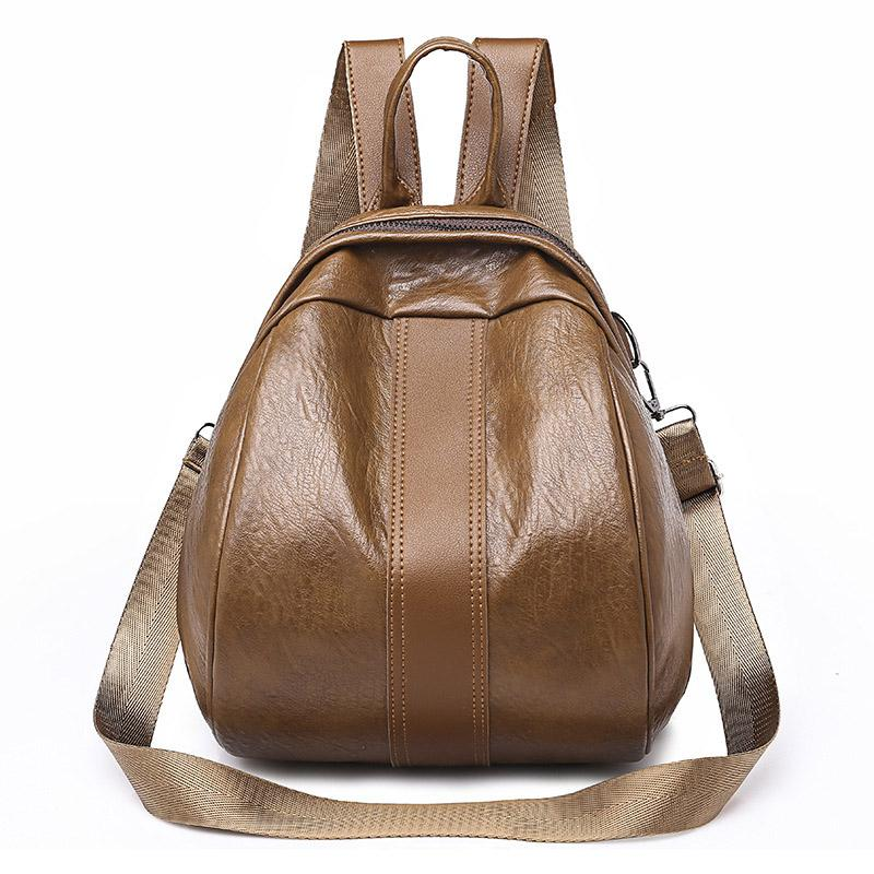 8e0a9d164be5b New Women Zip Pu Leather Shoulder Backpack Bag Two Ways Multi Function  Ladies Wild Fashion Casual Personality For Teenager Backpacks For School  Laptop ...