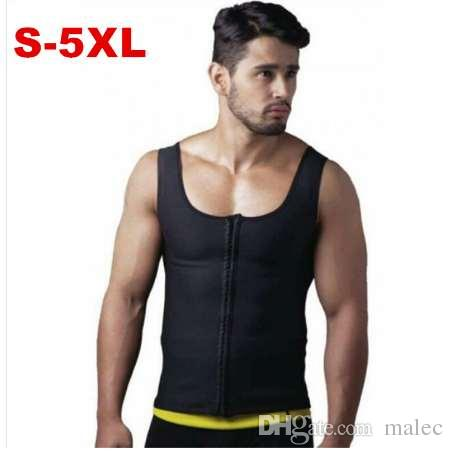 85f5ab51c5b 2019 Asstseries Mens Sweat Neoprene Body Shapers Zipper Vest Tops Slimming  Fitness Weight Loss Shapewears Plus Size S 5XL From Malec