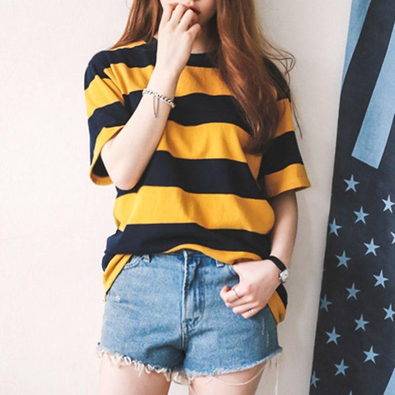 447278ace33 Women Yellow Black Striped T Shirt Coon Vintage Hip Hop Harajuku Tops Tee  Men Women Striped Short Sleeve Tshirt Streetwear Interesting T Shirts T  Shirt Buy ...