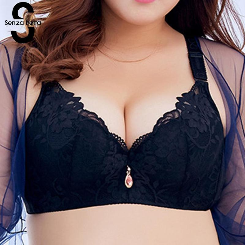 abdbc53091 Sexy Lace Bra Women Underwear Underwire Bra Push Up Bra C D Cup Plus Size  Lingerie Soft Bralette Brasexy Bra Online with  31.54 Piece on Aidior001 s  Store ...