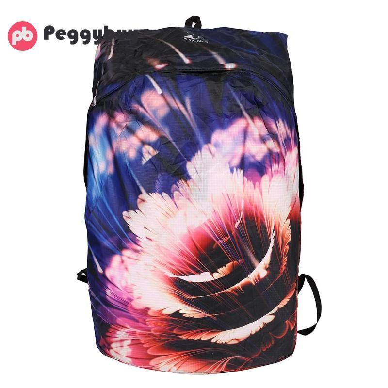 383a15b934 Flower Print Travel Backpack Foldable Women Men Childs Backpack ...