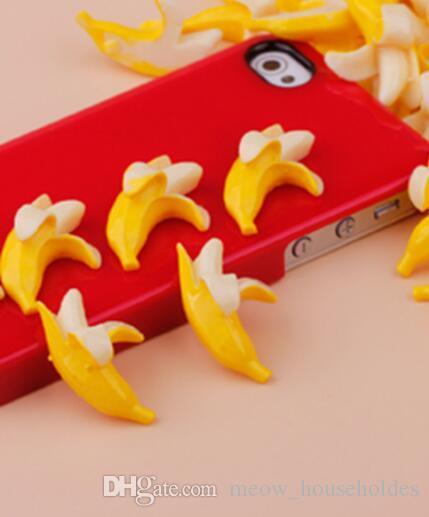 Accesorios de adornos Resina Novedad Artículos Banana DIY Santa Niños Jugadores Simulación Piezas de bananas