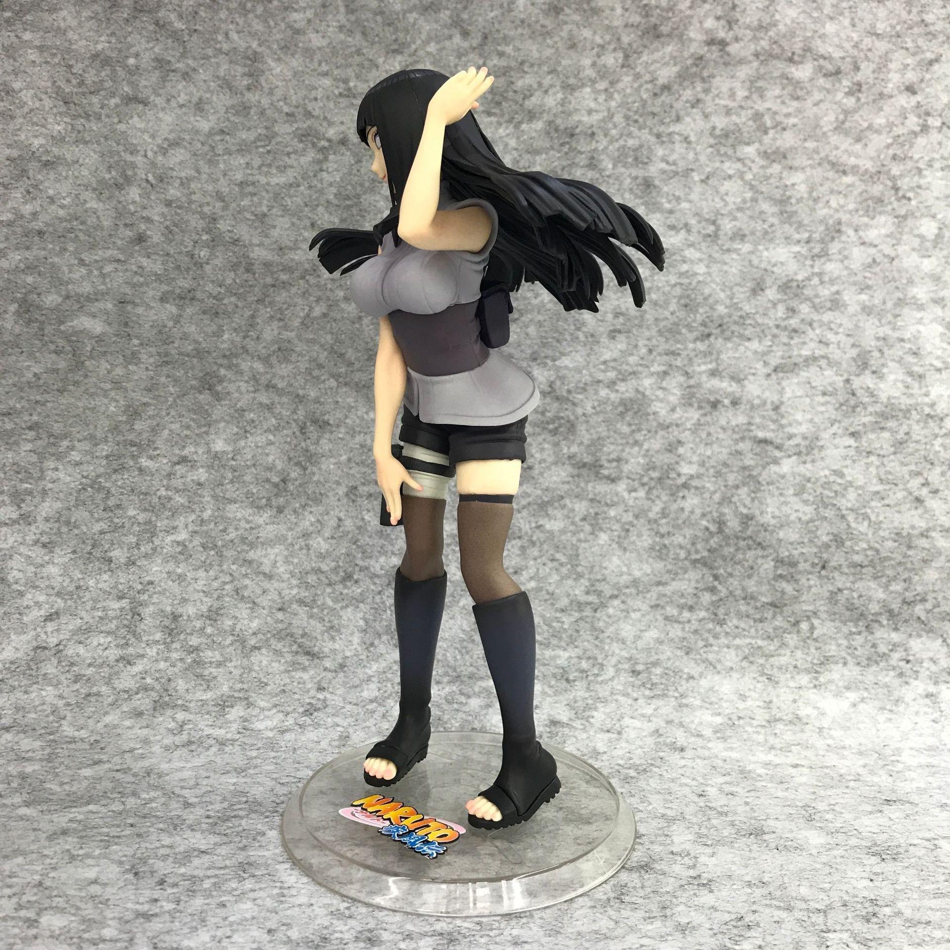 Acquista cartone animato naruto hyuga hinata pvc action figure