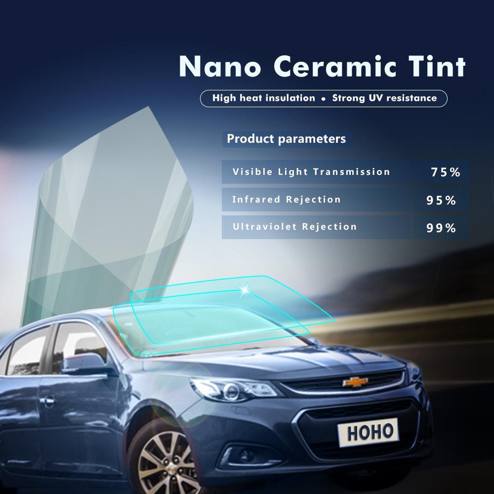 Light Blue Good Privacy Protection Sun Shade Nano Ceramic Window Tint Vinyl  Film Tinted Solar Tint 20inches X 16.7feet 0.5x5m Sun Shade In Car Sun Shade  ... 32d9c3fa934