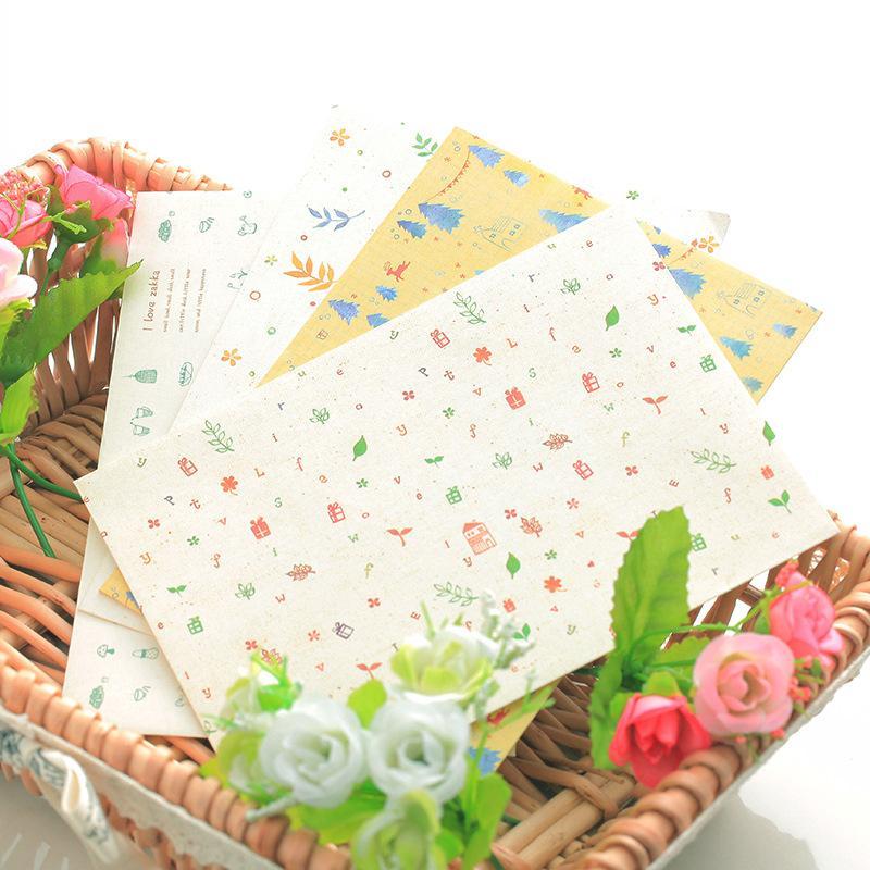 Großhandel 4 Stücke Neuheit Geschenkpapier Umschläge Kleine Frische