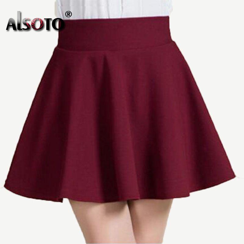 2a5d662fa Nuevo estilo de verano 2018 sexy falda para niña dama coreana corta skater  moda mujer mini falda ropa mujer Bottoms Y1890305