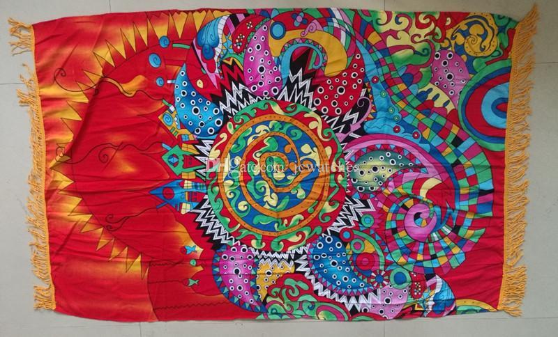 Boho Beach Serviettes De Plage Mélange De Coton Imprimé Été Grand Serviettes De Plage Piscine Maison Douche Serviette Couverture Table Nappe De Yoga