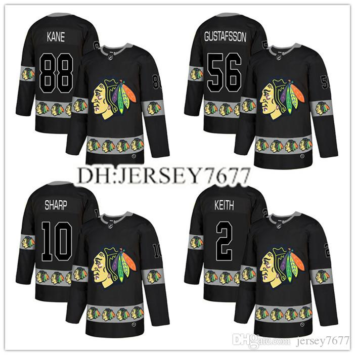 2019 2019 Nhl Hockey Jerseys Men S Chicago Blackhawks  88 Patrick Kane 2  Keith 19 Toews 50 Corey Crawford 20 Saad 14 Panik Jersey From Jersey7677 b3a28466f34