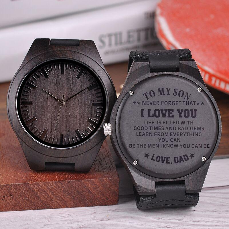 b75358f9792dc Engraved Wooden Watches Personalized Gifts For Son