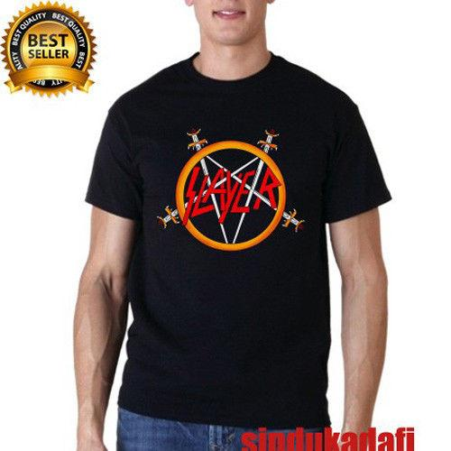 f7c426fe SLAYER Pentagram Logo Metal Rock Band Black Long Sleeve T Shirt Size S 2XL  Cotton Men T Shirts Classical Top Tee Casual Short Sleeve Retro T Shirt  Design ...