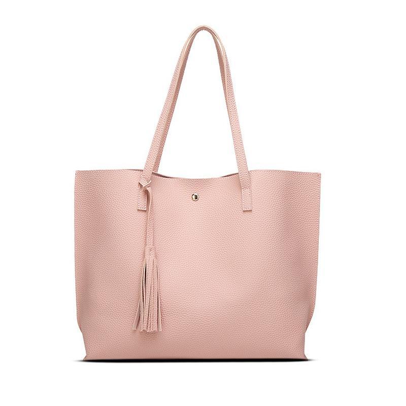 Gratisversand bieten Rabatte besserer Preis 2018 neue europäische Frauen Schulter Handtasche Mode Handtasche heißer  Eimer Tasche Mommy Pu Leder schöne modische weibliche Tasche.