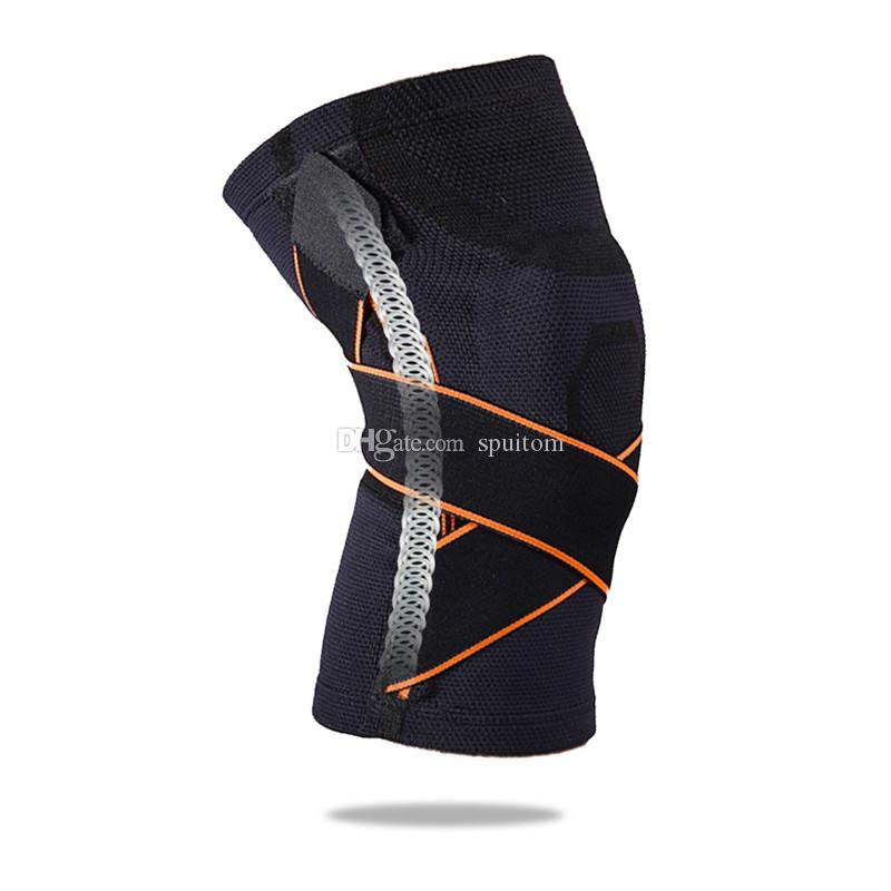 be4e90e8b2 2019 Spuitom Sports Knee Brace Sleeve With Pressure Strap, Compression Fit  Support For Soccer, Basketball, Running, Meniscus Tear,Injury Recovery From  ...