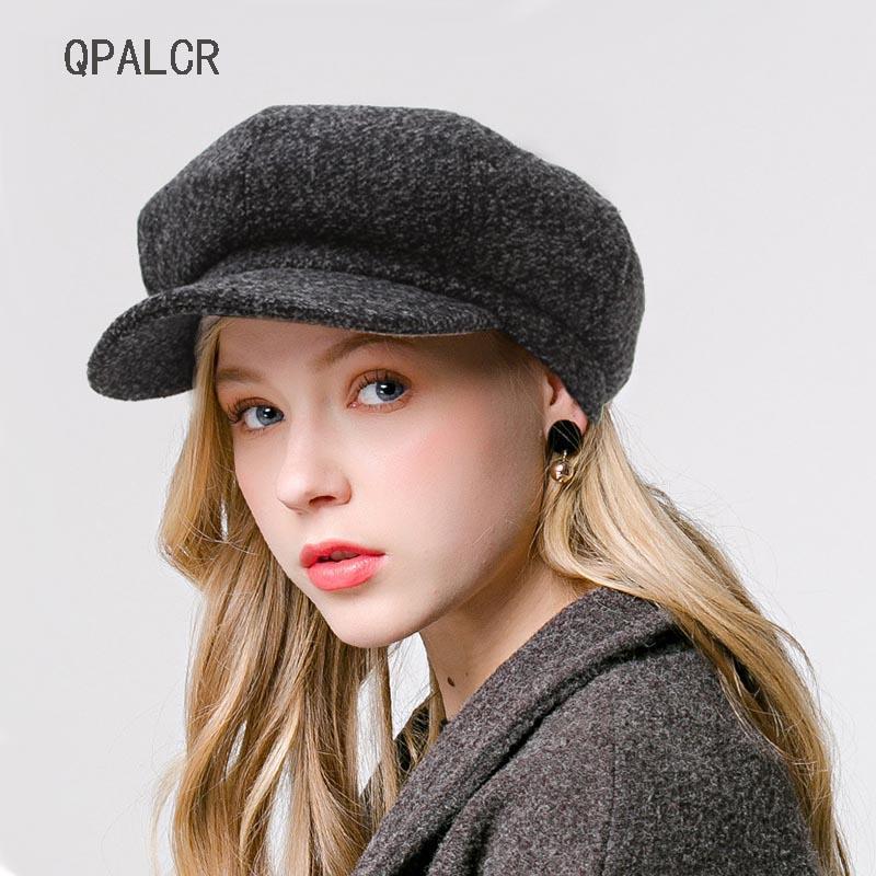 0d26cd00994c05 2019 QPALCR Newsboy Cap Beret Female Autumn Winter Hats For Women Men  Octagonal Cap Painter Hat Vintage England Gorras Boina Feminina From  Shanjumou, ...