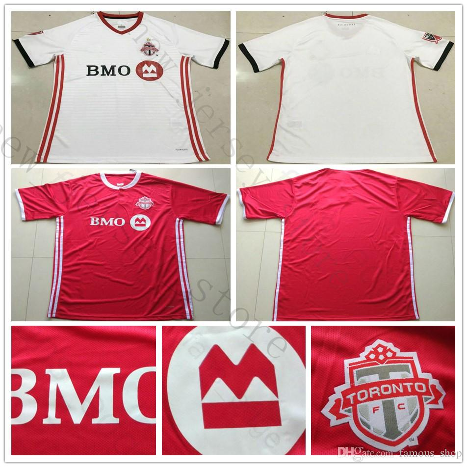 ea65d0069bff35 Acheter 2018 2019 Toronto FC Maillot De Football 4 BRADLEY 10 GIOVINCO 17  ALTIDORE 21 OSORIO Domicile Red Away White Personnaliser 18 19 Maillot De  Football ...