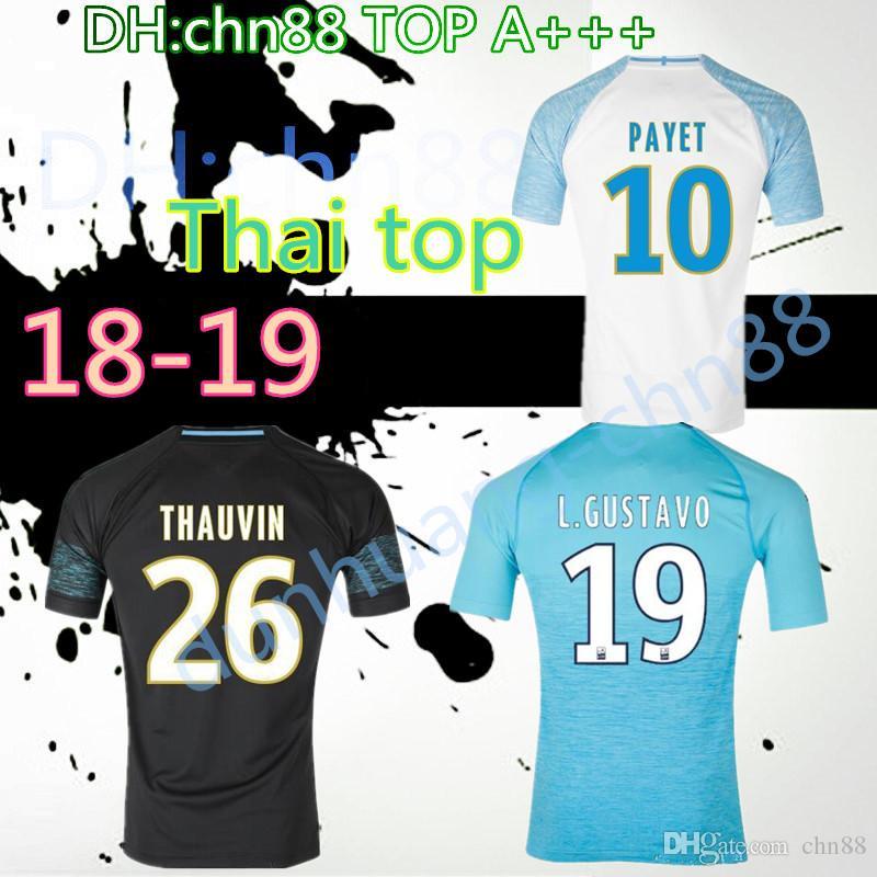 958a2946f81 Top Thai 18 19 Olympique De Marseille Soccer Jersey 2018 2019 ...