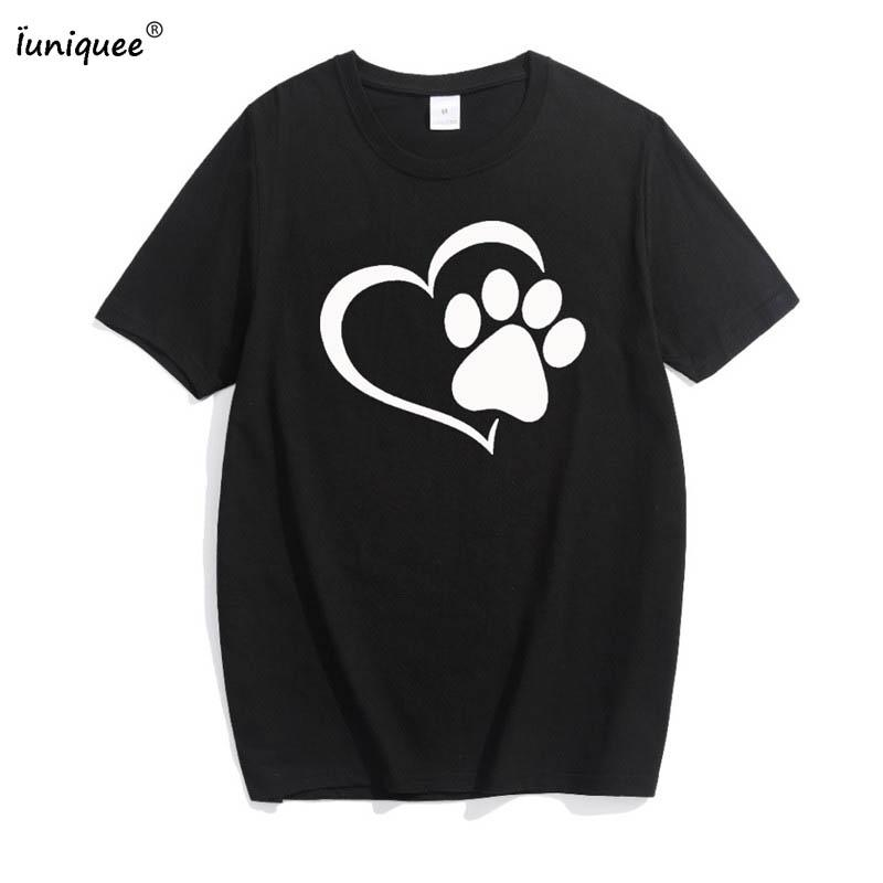 829c680d7 Women's Tee Love Cat Paws Print Women Tshirt Cotton Casual Funny T Shirt  For Lady Top Tee Hipster Gray Black White Pink T Shirt