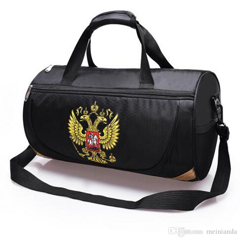 Outdoor Travel Duffel Sport Bag With Russia Emblem Waterproof Fitness Gym Bag  Sling Pack Handbag With Detachable Shoulder Strap Shoulder Bags For Women  ... 52fd6f6dc0292