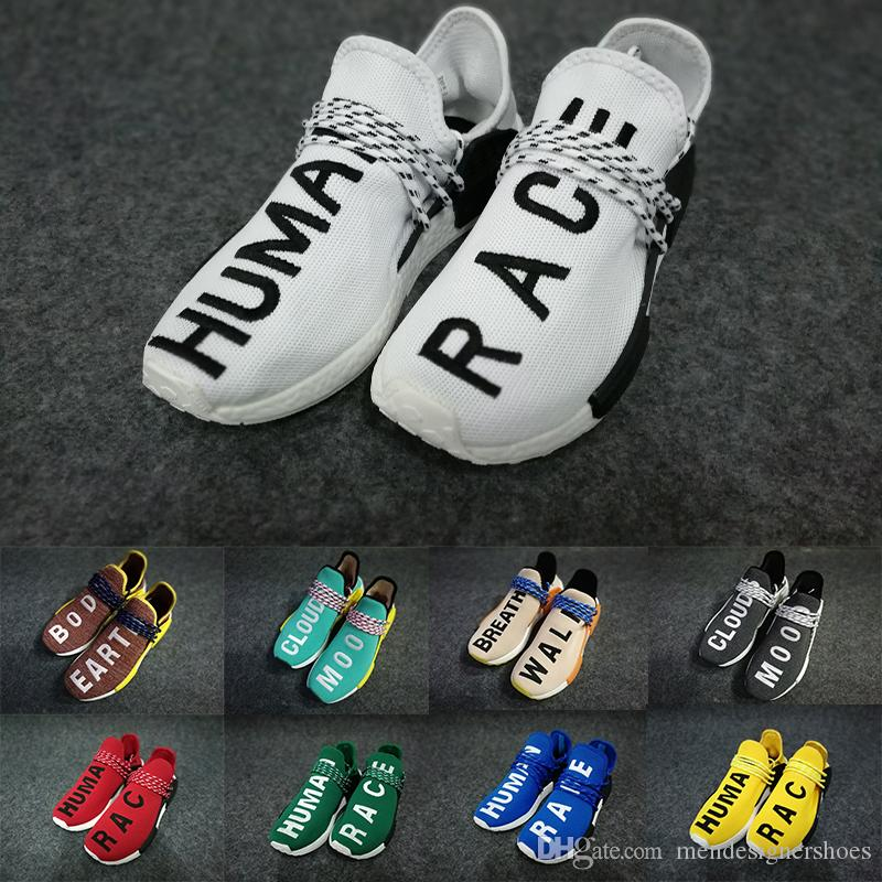 75cc8a4f4424aa 2018 Pharrell Williams X NMD Human Race Happy Core Black Equality NMD  Runing Shoes Women Men Sports Shoes Athletic Outdoor Shoes Size 36-47 Human  Race NMD ...