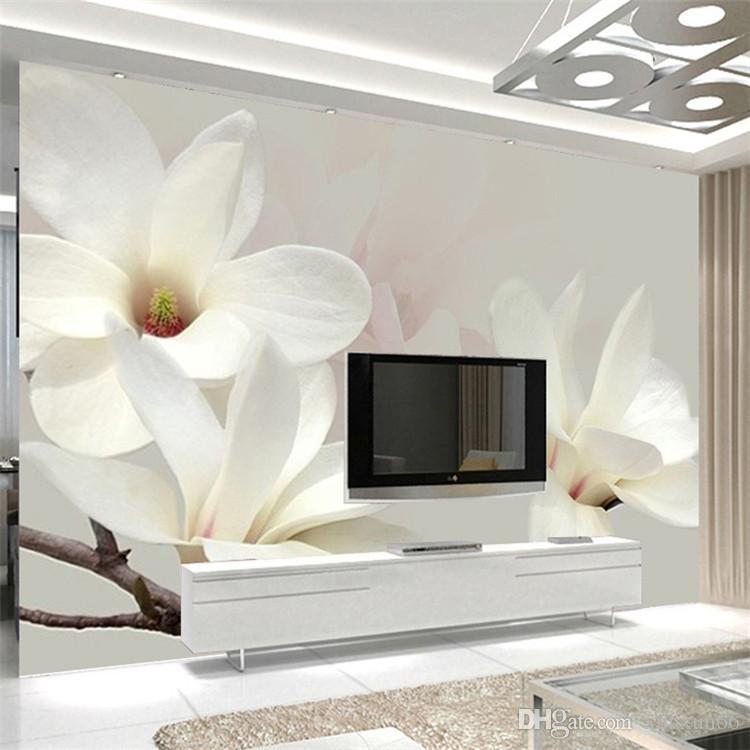 Modern simples moda flor de lótus grande pintura de parede personalizado qualquer tamanho mural papel de parede mural de parede 3d decor papel de parede foto