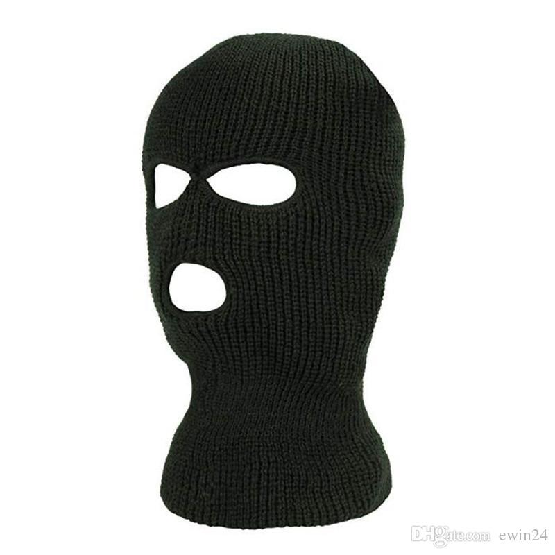29e69eb1509e5 2019 Knitted Balaclava Outdoor Full Face Cover Ski Mask Neck Warmer Hat From  Ewin24
