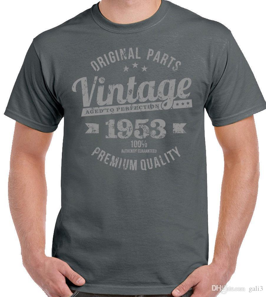 4baa772d Vintage Year 1953 - Premium Quality Mens 65th Birthday T-Shirt For A 65  Year Old