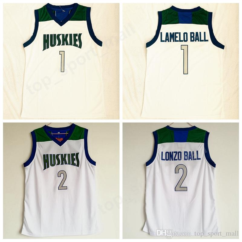 2019 Men New 1 Lamelo Ball Chino Hills Huskies Jersey White Color 2 Lonzo  Ball High School Basketball Jerseys Sport Stitched Uniform High Quality From  ... 954fff3ac