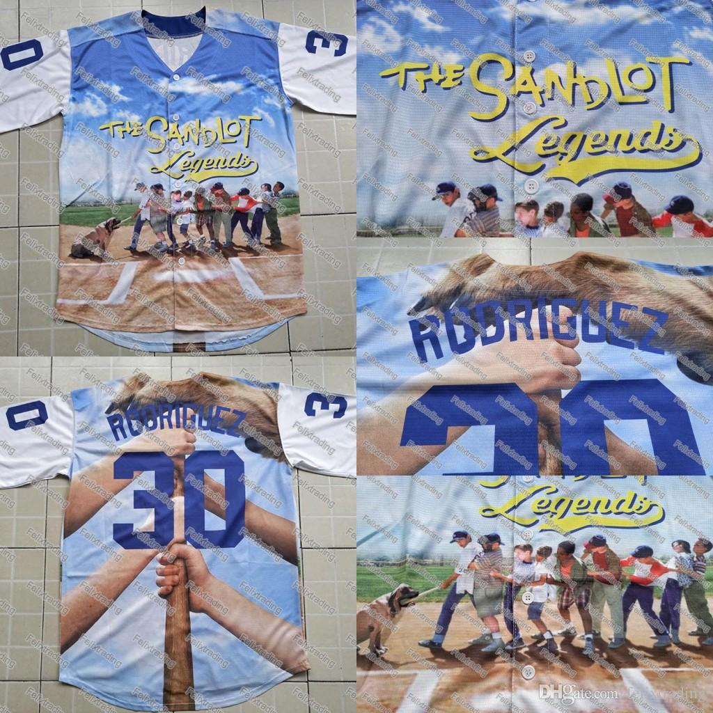 Benny  The Jet  Rodriguez 30 The Sandlot Legends Baseball Jersey Men  Stitched Name And Number Jerseys UK 2019 From Felixtrading 77ebeafc1