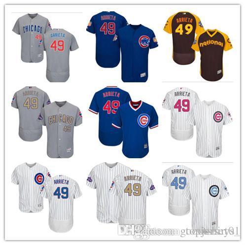 33051579b6e Custom Men Women Youth Majestic Chicago Cubs Jersey  49 Home Blue ...