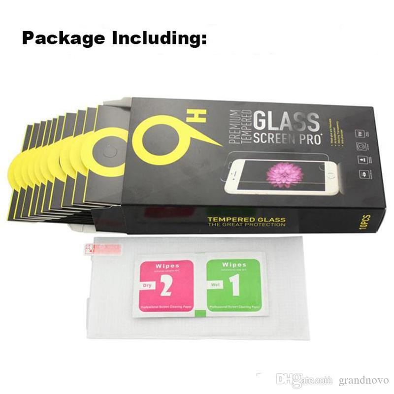 9H Temizle Şeffaf Temperli Ekran Koruyucu Film Guard iPhone 12 Pro Max 11 XS XR X 8 7 6 6S Artı 5 Paketi ile 5S SE 2020