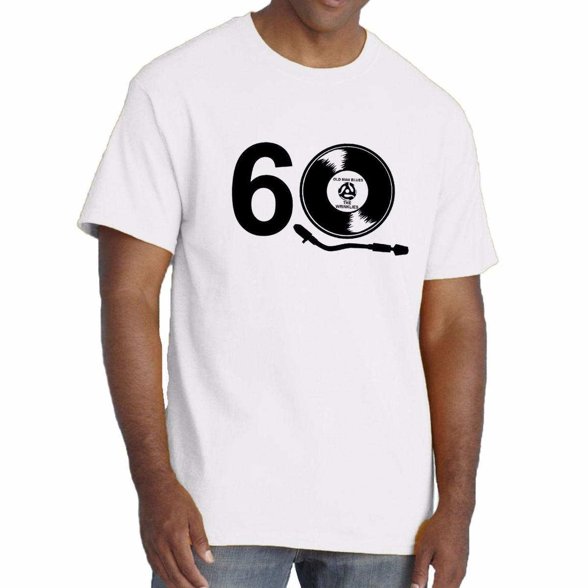 Birthday T Shirt 40th 50th 60th Vinyl Record Old Man Girl Blues THE WRINKLIES Design Shirts Casual From Linnan00004 1294