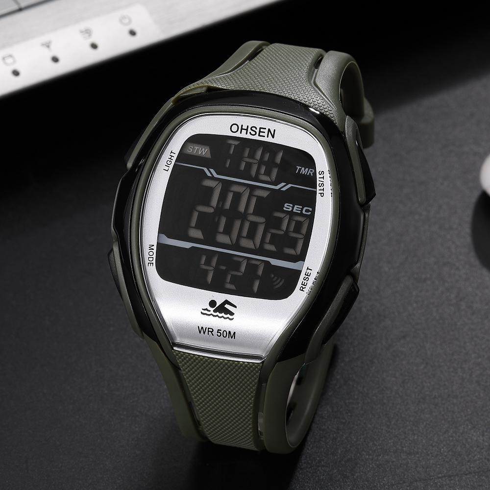 Compre OHSEN Hombres Reloj Deportivo Relojes Digitales Para Hombre  Impermeable LED Auto Fecha Militar Y Relojes De Pulsera Reloj Montre Homme  1802 A  20.93 ... b7ba5ccdf6d2