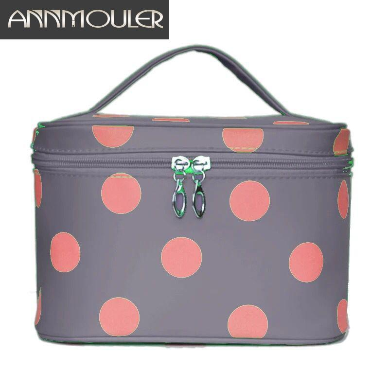 c97266392215 2019 Brand Women Makeup Bag Case Large Capacity Cosmetic Bag Travel Pouch  Polka Dots Printed Handbag Ladies Toiletry Bags From Universe111