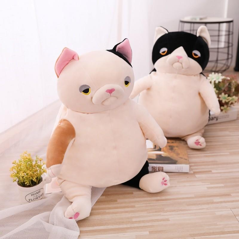 2019 New 2019 Creative Cartoon Little Faded Fat Cat Plush Toy Lazy