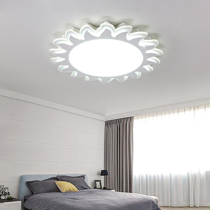 Attraktiv Großhandel Solar Deckenleuchten Mädchen Junge Führte Augenpflege  Schlafzimmer Beleuchtung Warme Und Einfache Moderne Blume Geformte Zimmer Lampe  Für Lu80372 ...