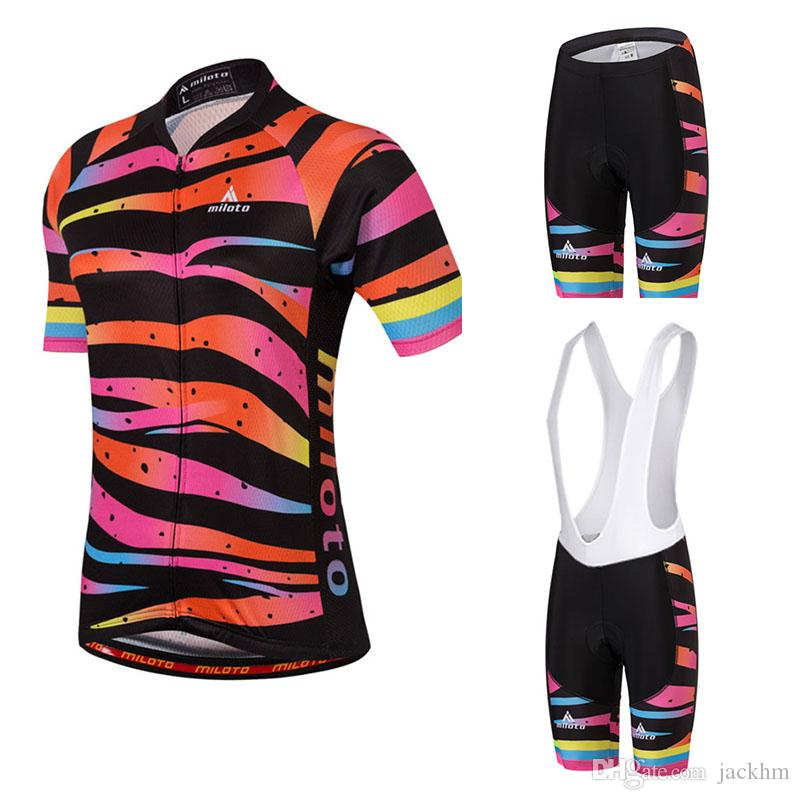 43cffc5db Women Pro Summer Cycling Jersey Set Bib Shorts Mountain Bike Clothing MTB  Bicycle Clothes Wear Maillot Ropa Ciclismo Cycling Set Biker T Shirt  Vintage ...