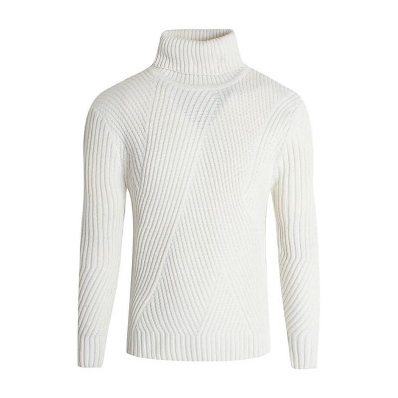 2019 Autumn Winter Casual Turtleneck Sweater Mens Knitted Sweaters