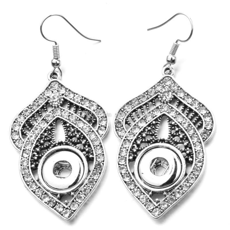Pendientes de gota de cristal de alta calidad para las mujeres Pendientes de botón de 12 mm Mini Pendientes de botón Moda 12 mm Broche de joyería