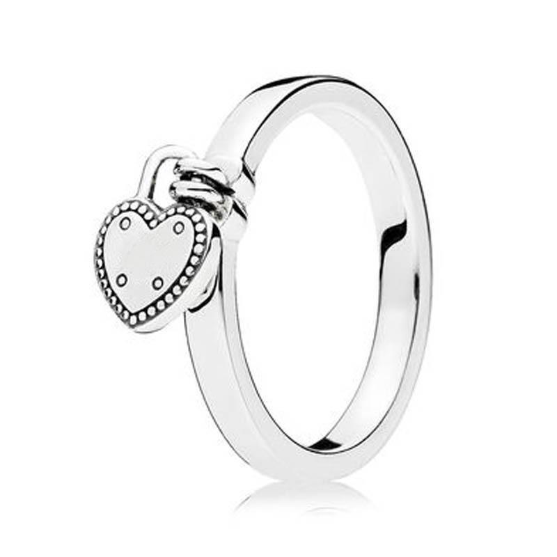 2019 S925 Sterling Silver Fashion Ring For Women Love Lock Girl Finger Birthday Gift Wedding Party Fit Lady Jewelry From Shuocong 350