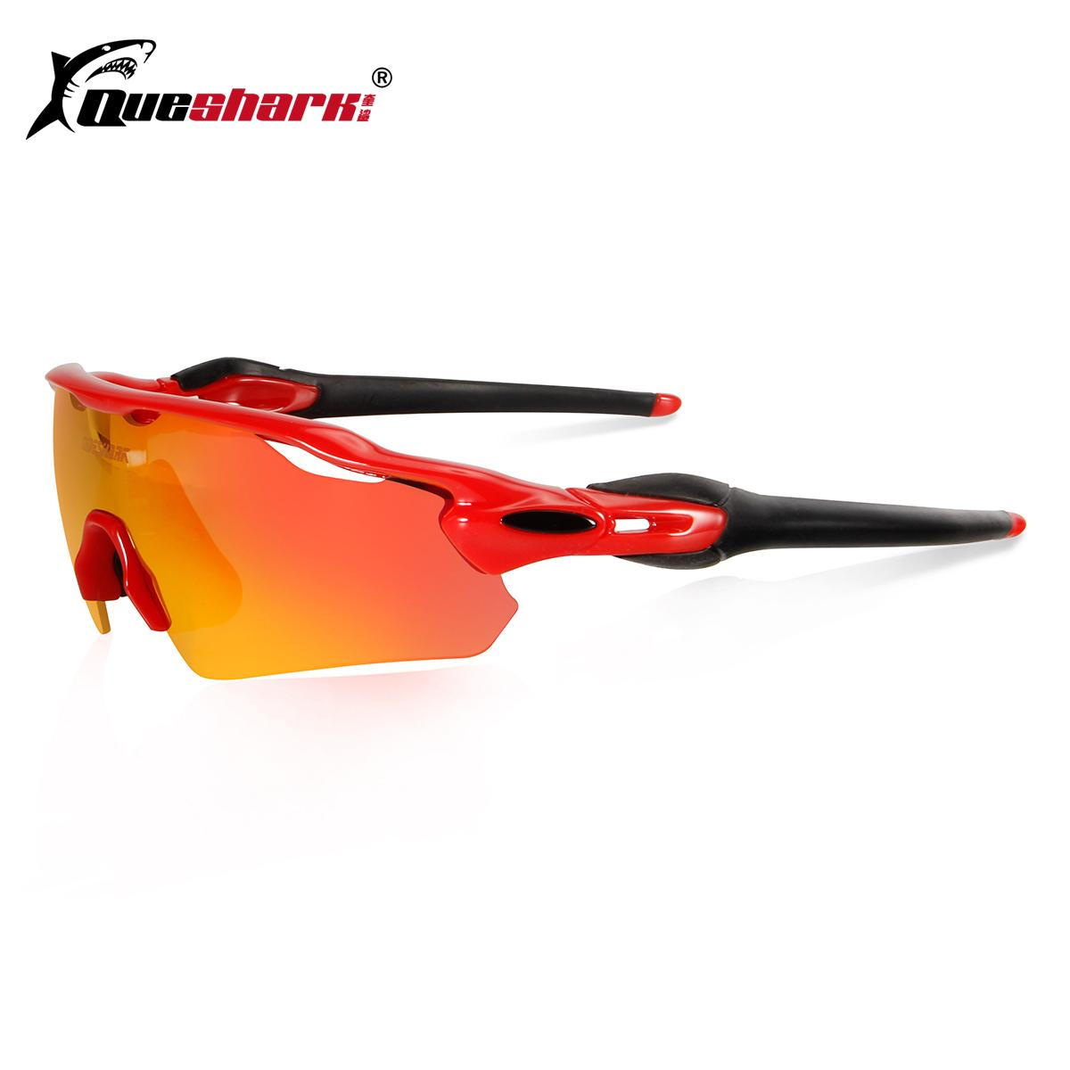 2018 Queshark 3 Lens Polarized Cycling Sunglasses Tour De France ...