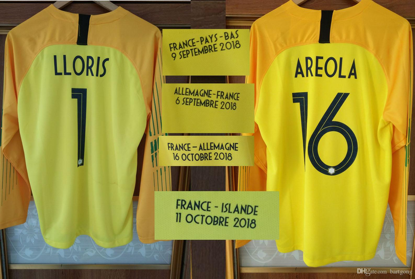 f7215271aad 2019 2019 Goalkeeper LLORIS AROELA Soccer Long Sleeve With Match Details  Can Customize Any Name Number Training Kit From Bartgong, $29.15 |  DHgate.Com